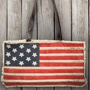 NWOT Canvas American Flag Bag   Vintage Patriotic